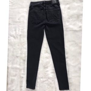 AE Black High Rise Skinny Jeans Faded Black Size 4